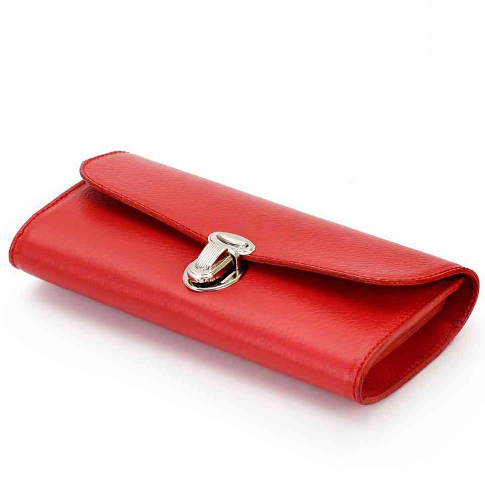ea8d89a9f2e7 Красный кожаный кошелек ручной работы / Красный кошелек женский / Кошельки  Leonid Titow